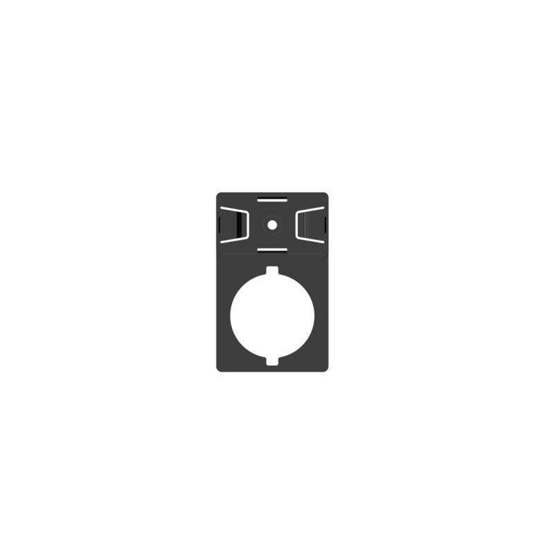 Portatarghetta diametro 22mm adesivo