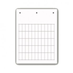 Tessera PVC Adesiva Flat Bianca 15x27mm (1 foglio 24 pezzi)