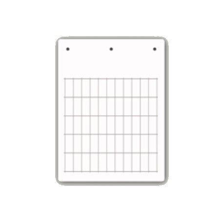 Tessera PVC Adesiva Flat Bianca 15x27mm