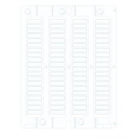 White Flat Adhesive PVC Card 15x27mm (1 sheet 24 pieces)