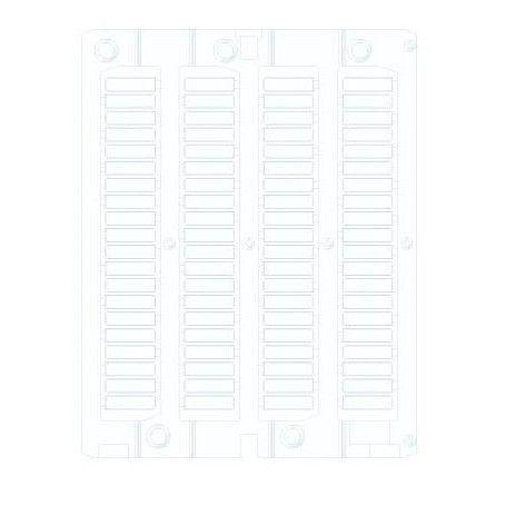 White Flat Adhesive PVC Card 15x27mm (1 sheet 24 pieces)