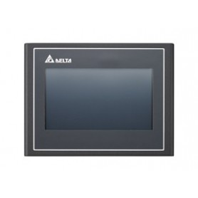HMI – TFT LCD 4,3 poll. 16.9 Wide screen, USB Host, Ethernet, FTP/email/VNC/web monitor, 512RAM, 256ROM, 1 COM port