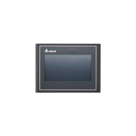 HMI – TFT LCD 4,3 poll. 16.9 Wide screen, USB Host, Ethernet, FTP/email/VNC/web monitor, 512RAM, 256ROM, 1 COM port