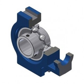Flanged UCT205 self-aligning support
