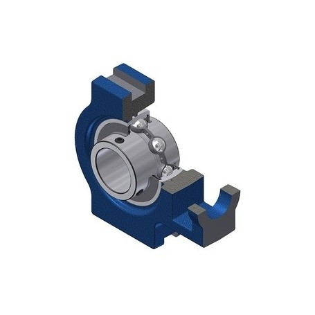Flanged UCP205 self-aligning support