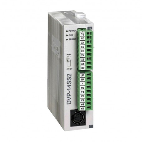 DELTA logic controller controller DVP14SS211R PLC DC24V 8 DI 6 DO relay programming cable