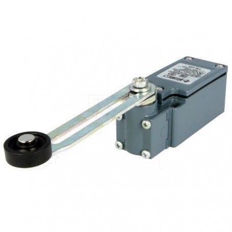 Finecorsa leva regolabile R 34-93mm, rullo plastica Ø20mm PIZZATO ELETTRICA FM 555
