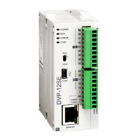 PLC CPU Ethernet port relay outputs Delta DVP12SE11R