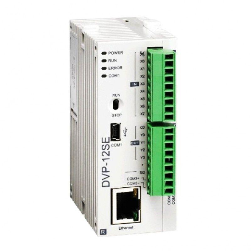 PLC CPU Porta Ethernet uscite a transistor NPN Delta DVP12SE11T