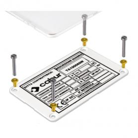 Targa Identificativa quadro 100x60 (stampa su richiesta 1,22 €)