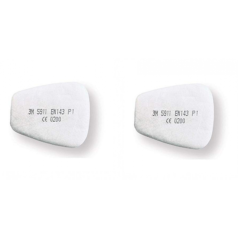 """Pair of prefilters for 6000 and 7000 series Cod. 5911 """"P1"""" 3M"""