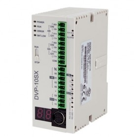 PLC DVP10SX11R Delta 24VDC 2AI / 2AO 4DI / 2DO relè