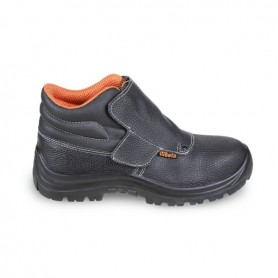 """High """"welder"""" lace-up shoes in leather 7245BK n.42 Beta"""