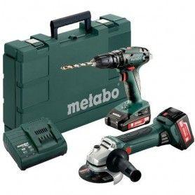 COMBO 244 SB 18 + W 18 LTX Drill driver + Grinder + 4Ah + 2 Ah Metabo