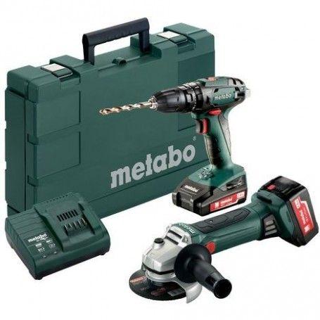 Grinder Kit Metabo Combo 244 18V Lithium Battery Drill