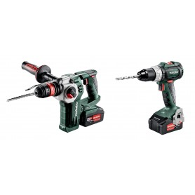 SB 18 LTBL Drill screwdriver perc. + KHA 18LTX BL24Q Perforator + 2x4Ah