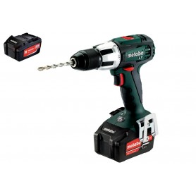 SB 18 LT Impact screwdriver drill + 2 5.2 Ah batteries in ML Metabo + Case