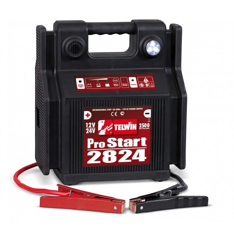 Avviatore portatile a batteria Telwin Pro Start 2824 12-24 V Capacità batteria 44/22 Ah cod. 829517