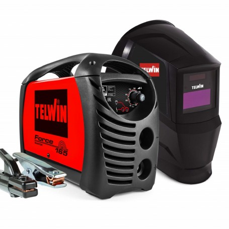 Inverter welding machine with electrode MMA Telwin Force 165 with Mask