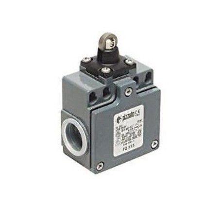 Adjustable lever limit switch R 34-93mm, plastic roller Ø20mm Pizzato FM 555